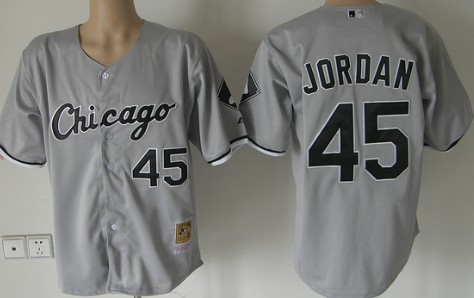 de3f407bed9 Chicago White Sox #45 Michael Jordan Gray Throwback Jersey on sale ...