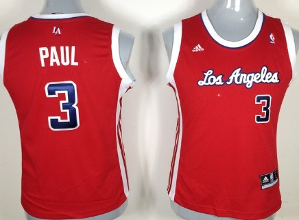 Los Angeles Clippers #3 Chris Paul Red Womens Jersey
