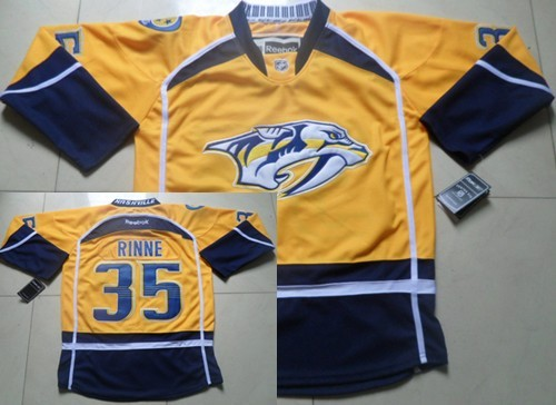 san francisco a97dd 8d33f Nashville Predators #35 Pekka Rinne Yellow Jersey on sale ...