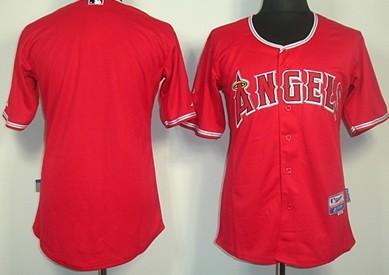 LA Angels of Anaheim Blank Red Jersey