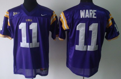 LSU Tigers #11 Spencer Ware Purple Jersey