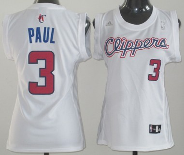 Los Angeles Clippers #3 Chris Paul White Womens Jersey