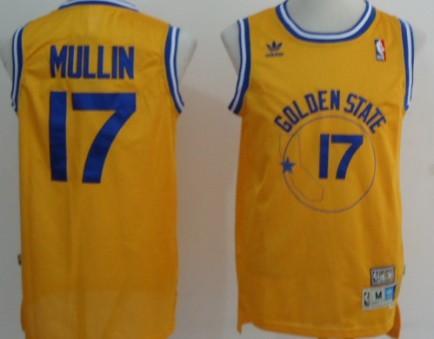 Golden State Warriors  17 Chris Mullin Yellow Swingman Throwback Jersey 0871efbf9