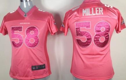 Nike Denver Broncos #58 Von Miller Pink