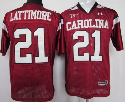 South Carolina Gamecocks #21 Marcus Lattimore Red Jersey