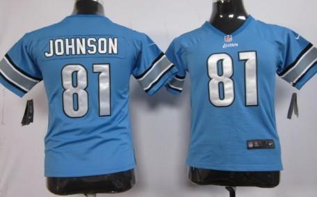 ... release date nike detroit lions 81 calvin johnson light blue game kids  jersey 09f2f 0f11c ... 9b88d4295