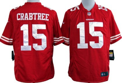 Nike San Francisco 49ers #15 Michael Crabtree Red Game Jersey on ...