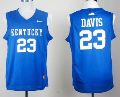 best sneakers 8e7ea 219fd Kentucky Wildcats #23 Anthony Davis Royal Blue College ...