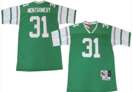 online retailer 9a255 0766d Philadelphia Eagles #31 Wilbert Montgomery Light Green ...