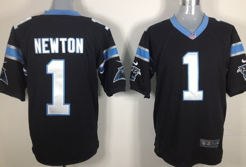 competitive price 7c00b 71601 Nike Carolina Panthers #1 Cam Newton Black Game Jersey on ...