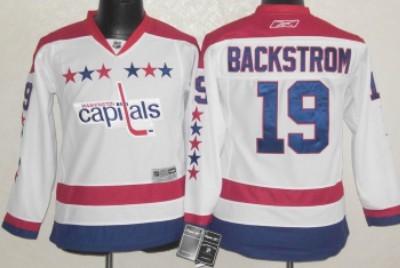 the best attitude bc148 1c955 Washington Capitals #19 Nicklas Backstrom White Third Kids ...