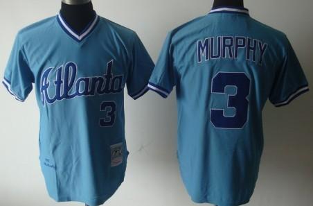 buy popular 56114 f3bfc Atlanta Braves #3 Dale Murphy Light Blue Throwback Jersey on ...