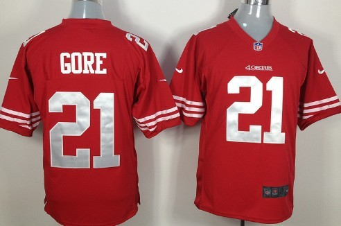 Nike San Francisco 49ers #21 Frank Gore Red Game Jersey on sale ...