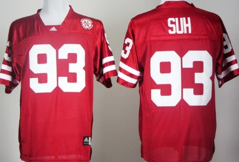 Nebraska Cornhuskers #93 Ndamukong Suh Red Jersey