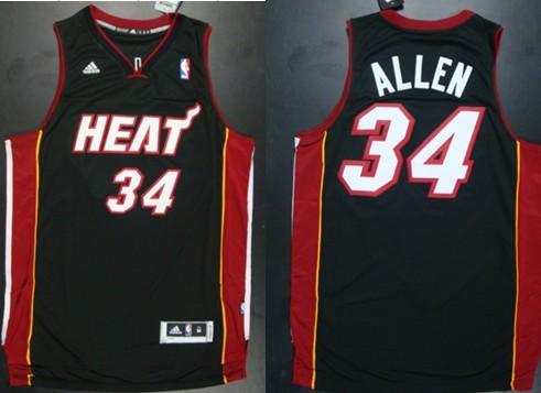 Miami Heat #34 Ray Allen Revolution 30 Swingman Black Jersey on ...