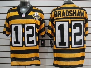 timeless design 03c70 00b55 Nike Pittsburgh Steelers #12 Terry Bradshaw Yellow With ...