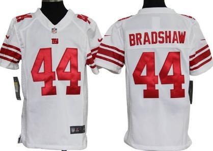 Nike New York Giants #44 Ahmad Bradshaw White Game Kids Jersey on ...