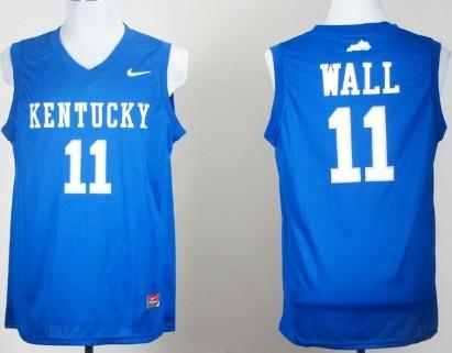 Kentucky Wildcats  11 John Wall Royal Blue College Basketball Jersey ... 6da78d4cc