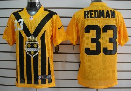 Nike Pittsburgh Steelers  33 Isaac Redman 1933 Yellow Throwback Jersey a39217e44