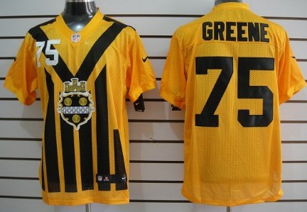f03d312629a Nike Pittsburgh Steelers  75 Joe Greene 1933 Yellow Throwback Jersey ...