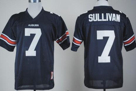 Auburn Tigers #7 Pat Sullivan Navy Blue Jersey