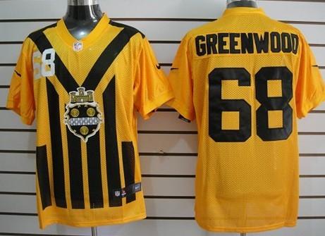 super popular 70f4d 809c8 Nike Pittsburgh Steelers #68 L.C. Greenwood 1933 Yellow ...
