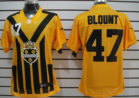 the latest 33613 7d64f Nike Pittsburgh Steelers #47 Mel Blount 1933 Yellow ...