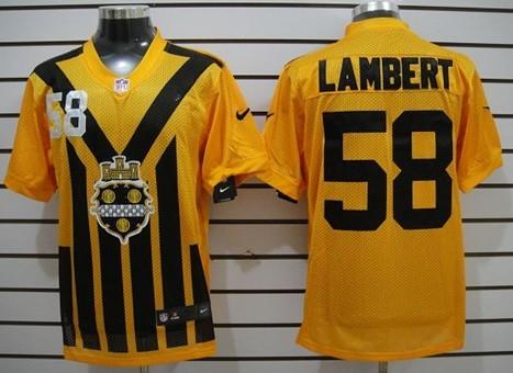 reputable site fe308 99d41 Nike Pittsburgh Steelers #58 Jack Lambert 1933 Yellow ...
