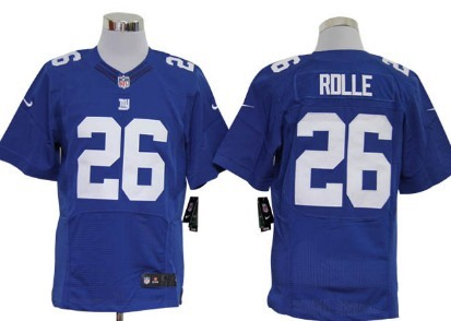 nike new york giants 26 antrel rolle blue elite jersey