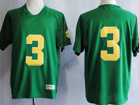 buy popular 91247 3958d Notre Dame Fighting Irish #3 Joe Montana 2013 Green Jersey ...