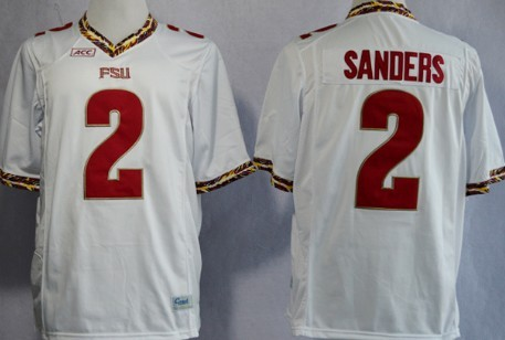 c22a23822 Florida State Seminoles  2 Deion Sanders White Jersey on sale