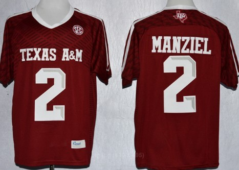 huge selection of 619ab f4f5d Texas A&M Aggies #2 Johnny Manziel 2013 Red Jersey on sale ...