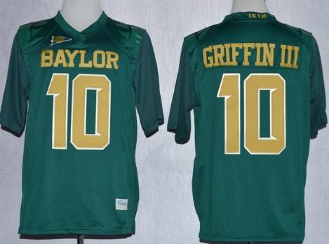 Baylor Bears #10 Robert Griffin III 2013 Green Jersey