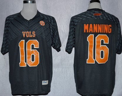 Tennessee Volunteers #16 Peyton Manning 2013 Gray Jersey