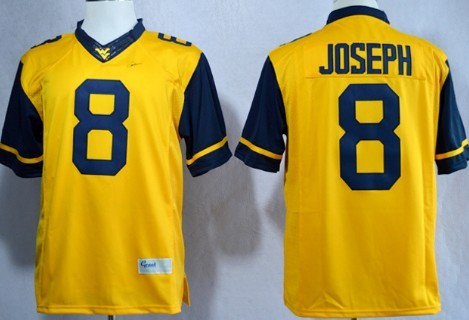 West Virginia Mountaineers #8 Karl Joseph 2013 Yellow Limited Jersey
