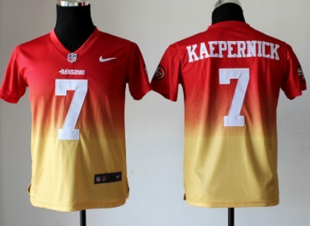 low priced bb73c 47f44 Nike San Francisco 49ers #7 Colin Kaepernick Red/Gold ...