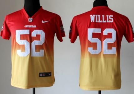 promo code 60930 394e2 Nike San Francisco 49ers #52 Patrick Willis Red/Gold ...