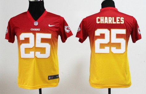premium selection 82176 7c1bd Nike Kansas City Chiefs #25 Jamaal Charles Red/Yellow ...