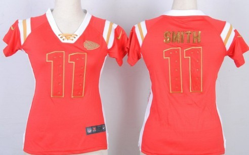 Nice Nike Kansas City Chiefs #11 Alex Smith Drilling Sequins Red Womens  supplier