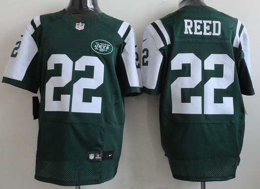 sports shoes 2fa18 68d6b Nike New York Jets #22 Ed Reed Green Elite Jersey on sale ...