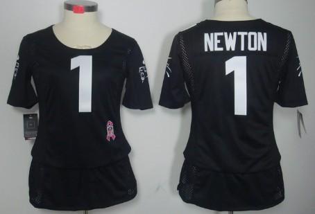 best website 2216a 565b9 Nike Carolina Panthers #1 Cam Newton Pink Love Womens Jersey ...