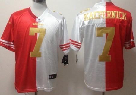 huge selection of 7e51b 6ea5e Nike San Francisco 49ers #7 Colin Kaepernick Red/White With ...