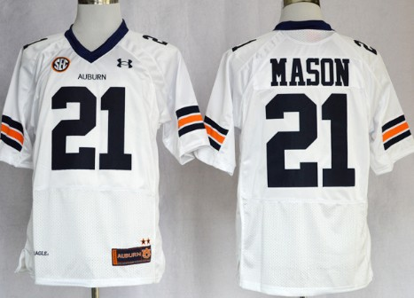 Auburn Tigers #21 Tre Mason White Jersey