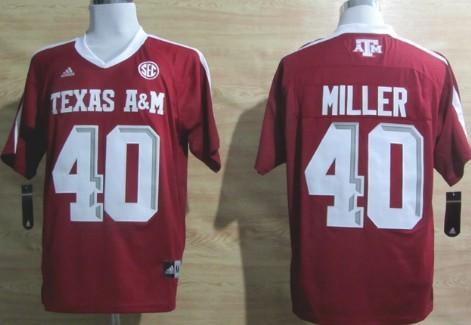 4e344e5b7 Texas A M Aggies  40 Von Miller Red Jersey