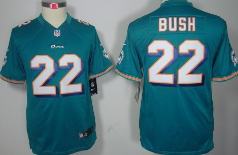 Nike Miami Dolphins #22 Reggie Bush Green Limited Kids Jersey on  lsrB2umX
