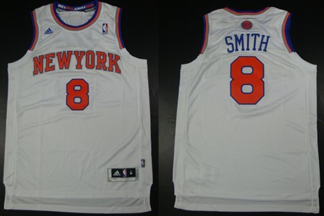 61a8ff6157f New York Knicks  8 J.R. Smith Revolution 30 Swingman 2013 White Jersey