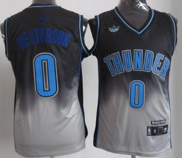 buy popular b9c86 0230e Oklahoma City Thunder #0 Russell Westbrook Black/Gray ...
