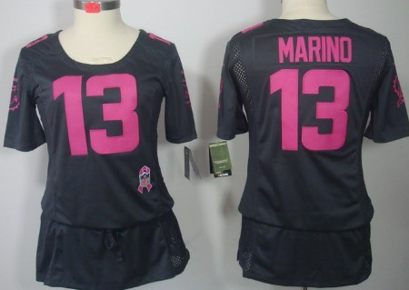 differently ec5c9 47c30 Nike Miami Dolphins #13 Dan Marino Breast Cancer Awareness ...