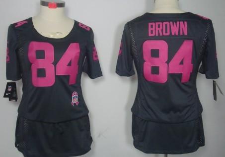 wholesale dealer 36436 4ab3d Nike Pittsburgh Steelers #84 Antonio Brown Breast Cancer ...