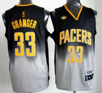 newest 01931 fefbe Indiana Pacers #33 Danny Granger Black/Gray Fadeaway Fashion ...